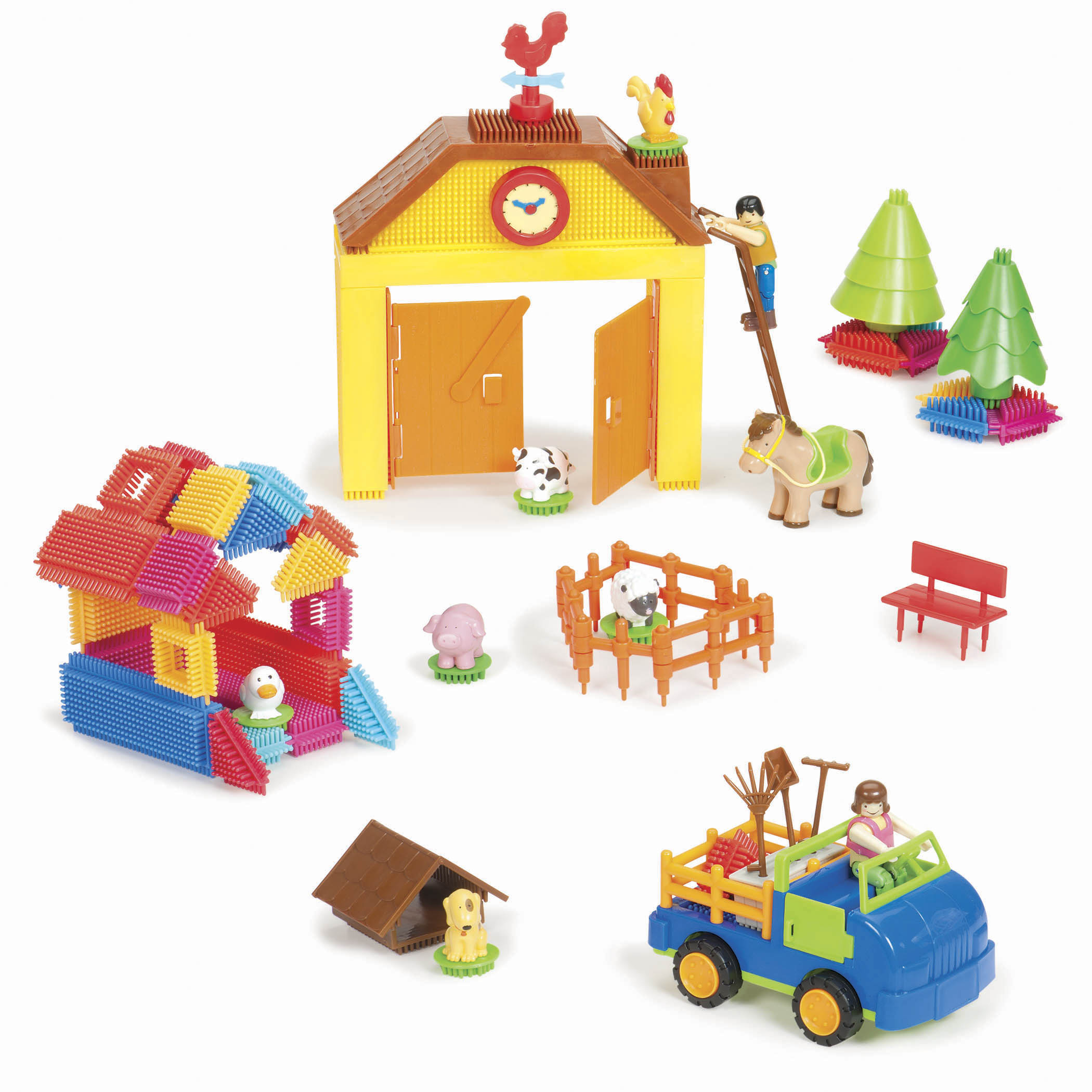 BRISTLE BLOCKS 66-PIECE FARM SET