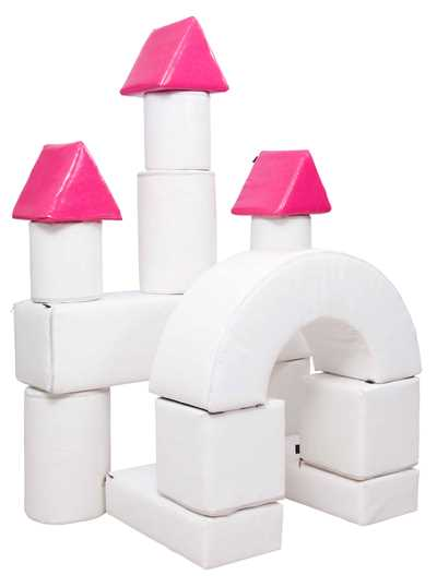 BUILDING BLOCKS 15-PIECE CASTLE SET